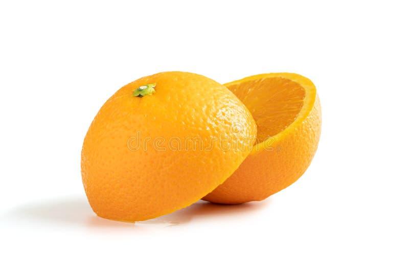 Апельсин пупка неполной вырубки стоковые изображения