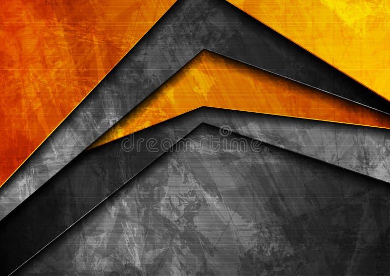 Апельсин техника Grunge материальный и темная серая предпосылка бесплатная иллюстрация