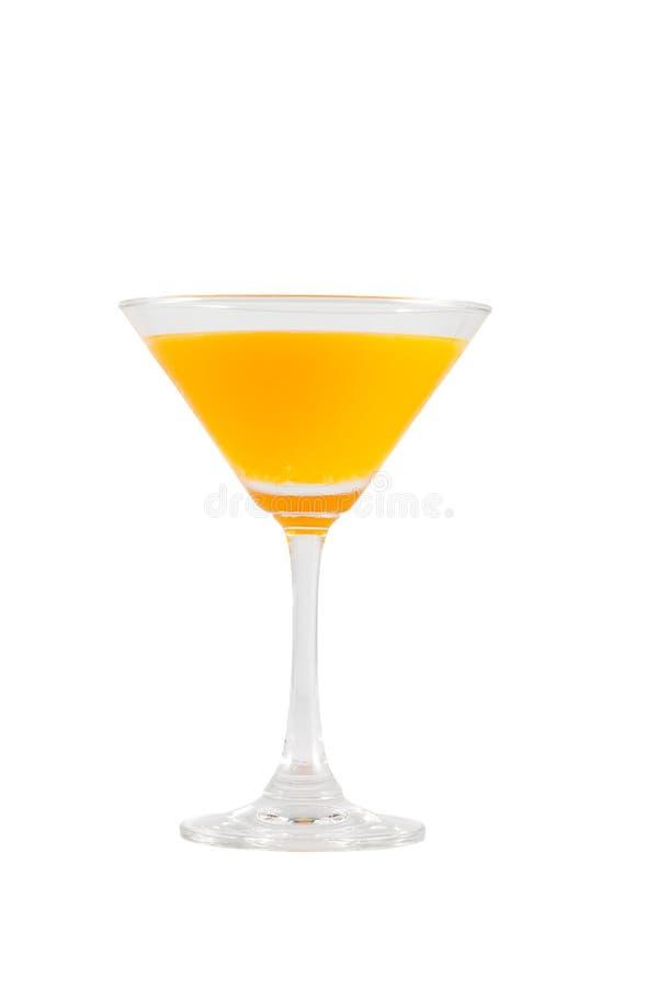 Апельсиновый сок в стекле коктеиля изолированном на белой предпосылке стоковая фотография rf