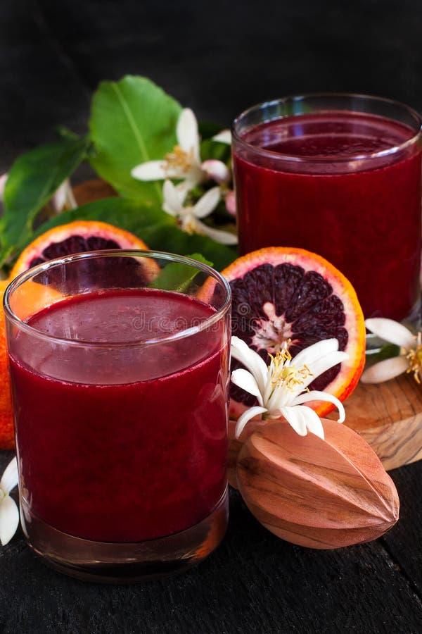 Апельсиновый сок крови стоковое изображение rf