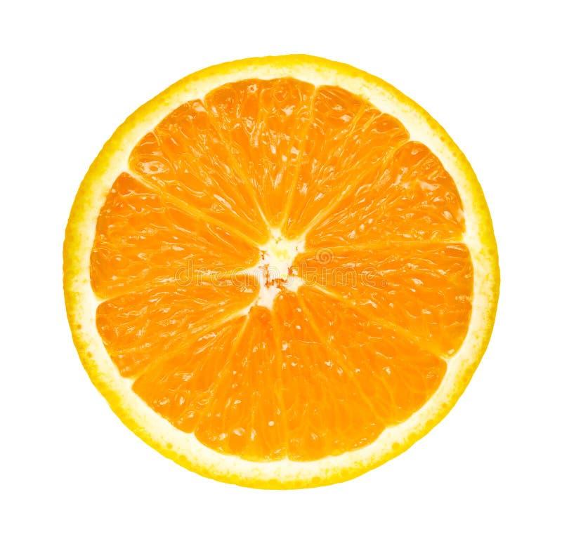 Апельсин половинного куска свежий изолированный на белой предпосылке стоковая фотография