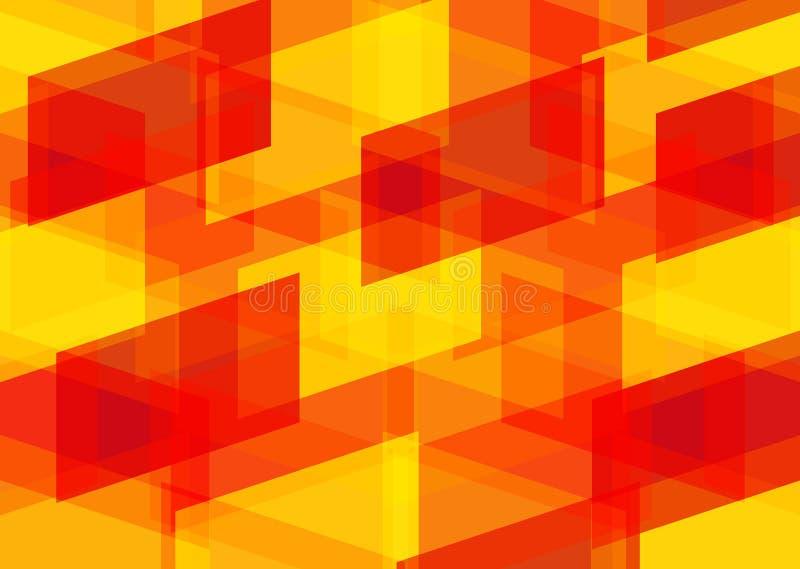 Апельсин предпосылки геометрический patternred желтый стоковое фото