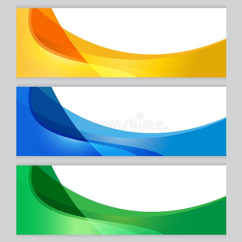 Апельсин рамки дерева предпосылки вектора установленный, синь, зеленая стоковое изображение rf