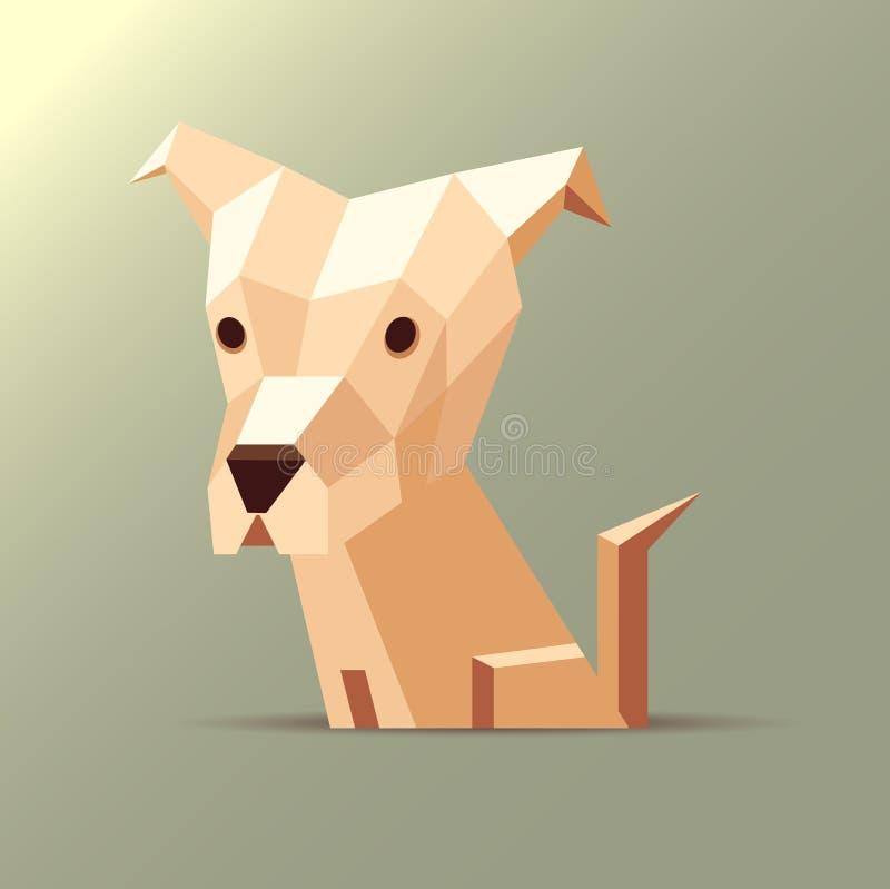 Апельсин собаки Origami иллюстрация вектора
