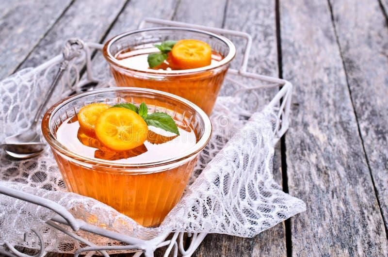 Апельсин студня стоковые изображения