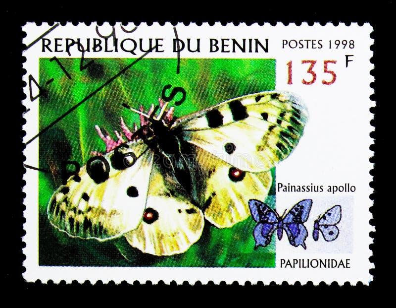 Аполлон (Parnassius Аполлон), serie бабочек, около 1998 стоковое изображение