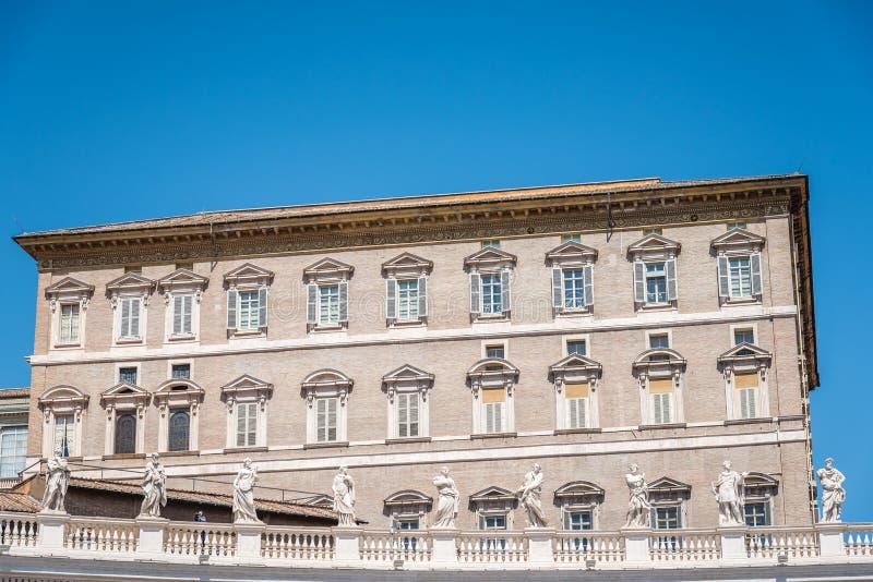Апостольский дворец в Ватикане от квадрата стоковые изображения rf