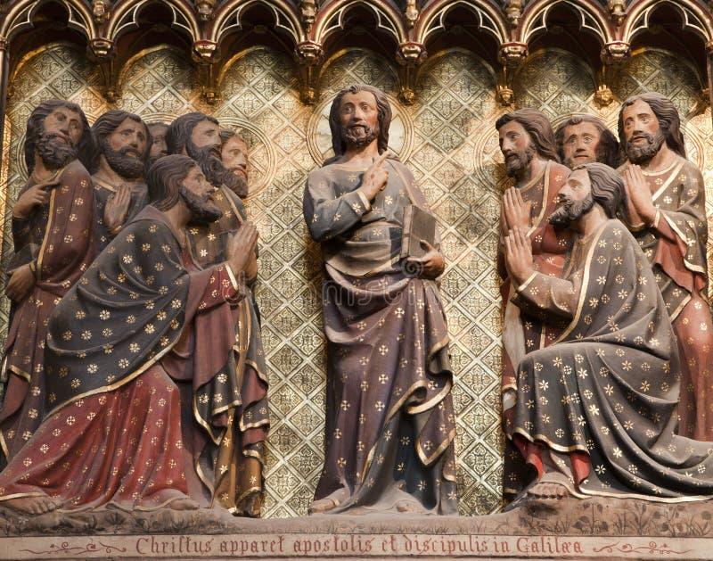 апостол jesus paris стоковое изображение rf