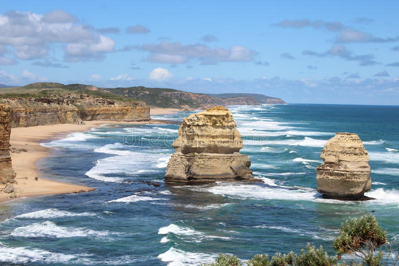 12 апостола, Виктория, Австралия стоковое фото rf