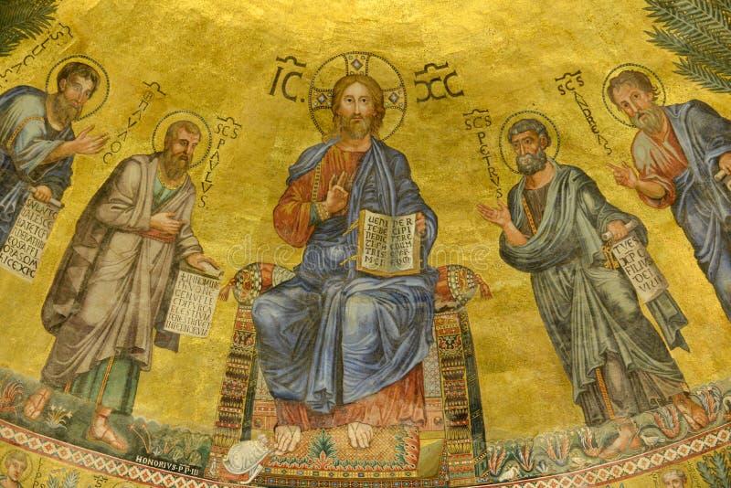 Апостолы с Иисусом стоковое изображение rf