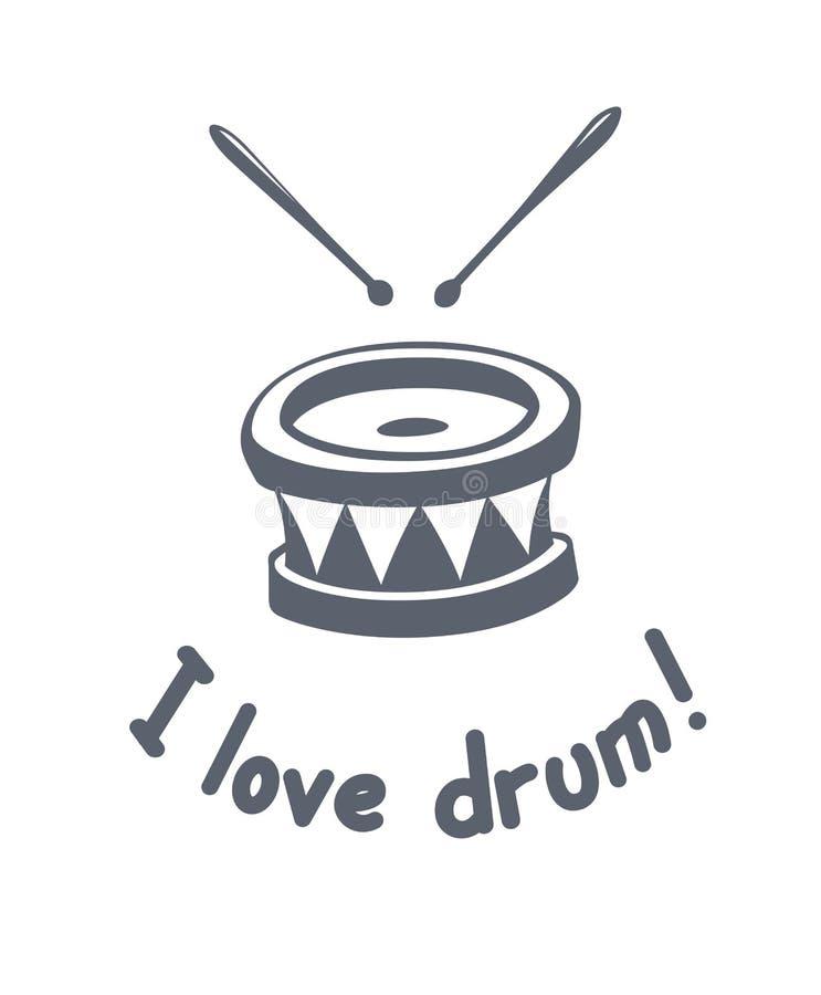 Аппаратура музыки барабанчика иллюстрация вектора