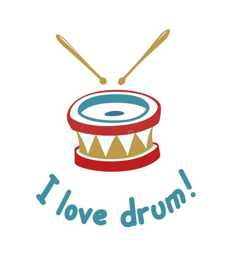 Аппаратура музыки барабанчика бесплатная иллюстрация