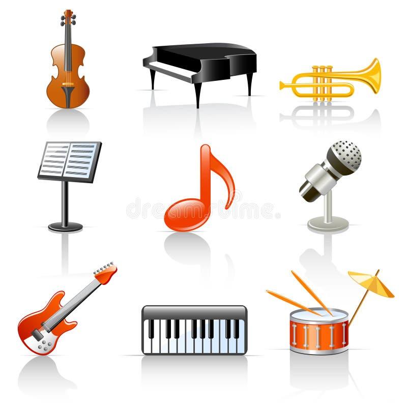 аппаратуры музыкальные иллюстрация вектора