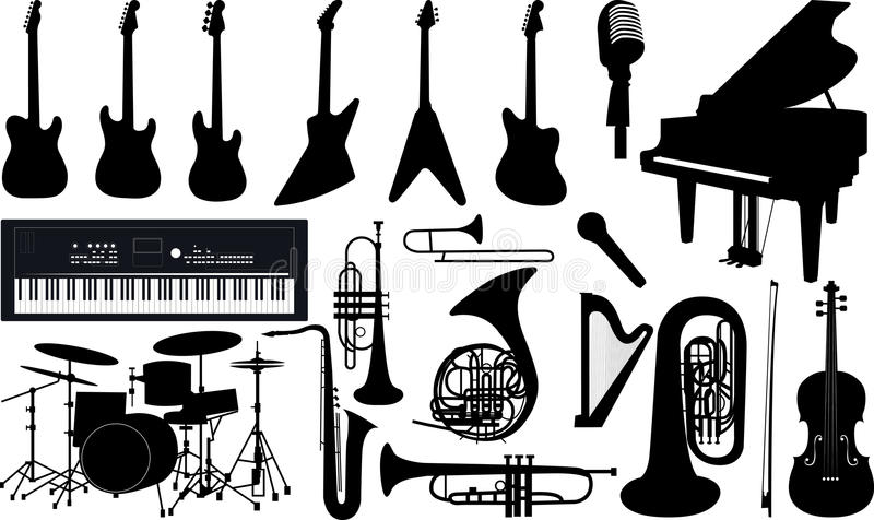 Аппаратуры музыки иллюстрация вектора