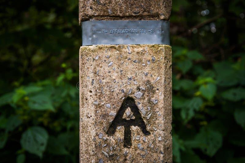 Аппалачская отметка следа в национальном парке Shenandoah, Вирджинии стоковые фото