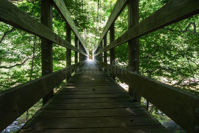 Аппалачский Footbridge следа стоковое фото