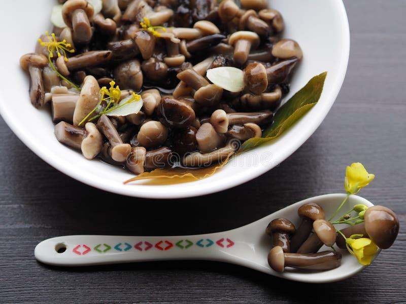 Аппетитная закуска грибов на праздник стоковые фото