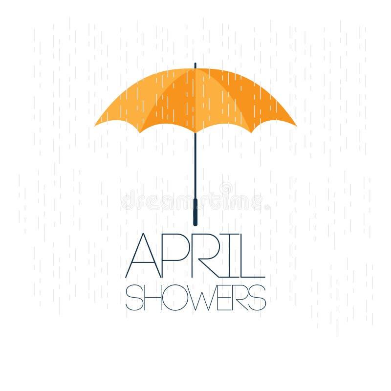 Апрель поливает иллюстрацию дизайна шаблона вектора цветков в мае иллюстрация вектора
