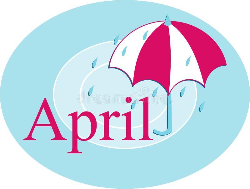 апрель иллюстрация вектора
