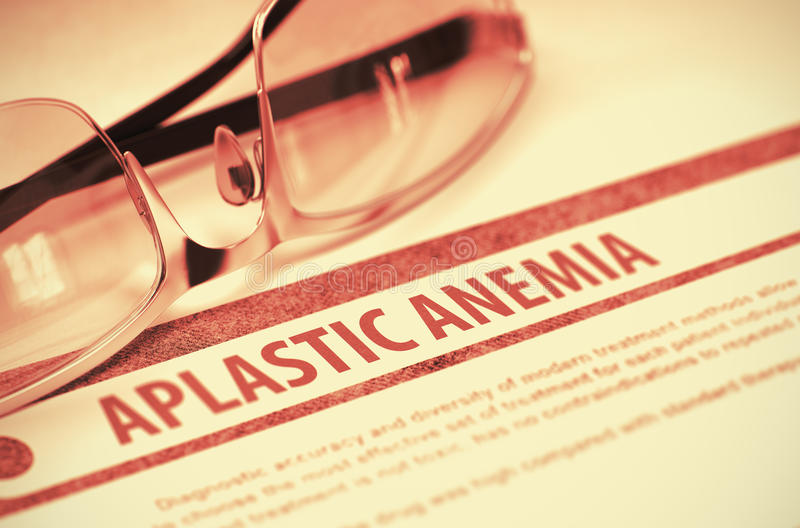 Апластическая анемия Медицина иллюстрация 3d стоковое изображение