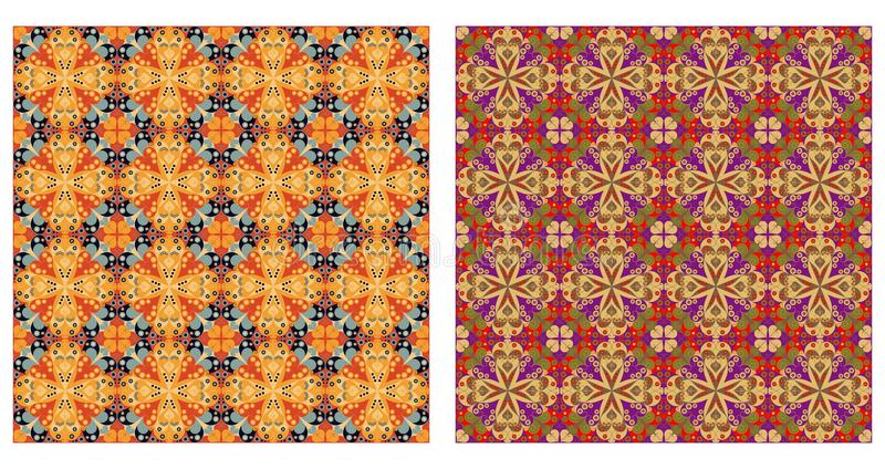 Арабеска делает по образцу безшовное иллюстрация вектора