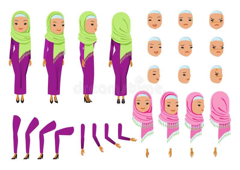 Арабская бизнес-леди иллюстрация вектора
