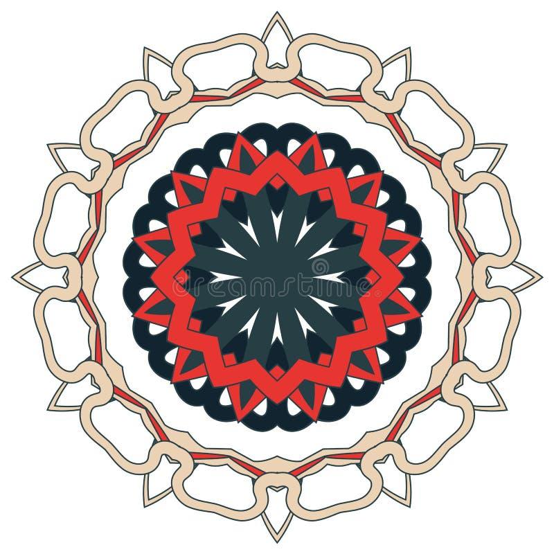Арабская красочная мандала Этнические племенные орнаменты стоковые фото