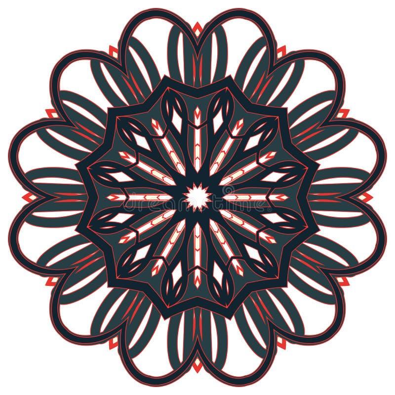 Арабская красочная мандала Этнические племенные орнаменты стоковая фотография rf