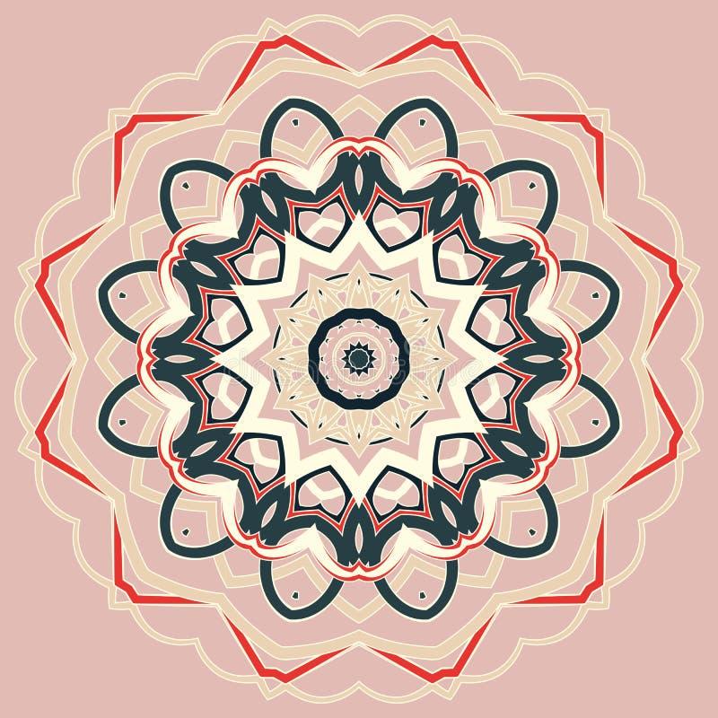 Арабская красочная мандала Этнические племенные орнаменты стоковые изображения