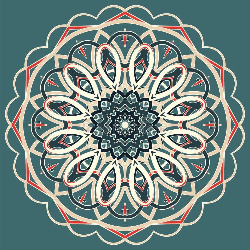 Арабская красочная мандала Этнические племенные орнаменты стоковое фото