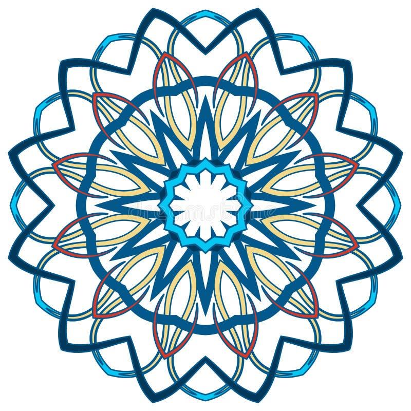 Арабская красочная мандала Этнические племенные орнаменты стоковая фотография