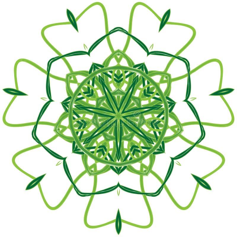 Арабская красочная мандала Этнический племенной зеленый цвет орнаментов стоковая фотография rf
