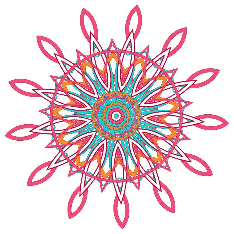 Арабская мандала цвета стоковые фотографии rf
