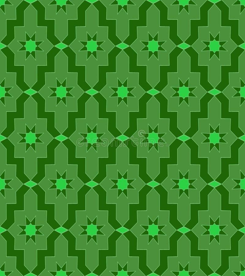 Арабская настенная роспись мозаики картины зеленого цвета мозаики стоковые фото