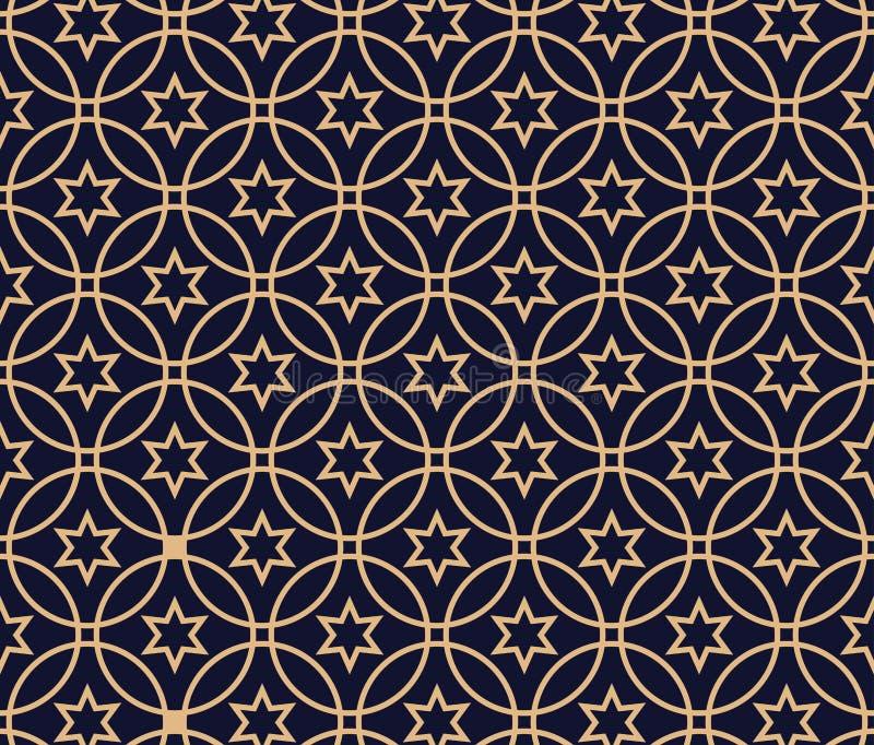 Арабская предпосылка картины Геометрический безшовный мусульманский фон орнамента иллюстрация вектора исламской текстуры Традицио иллюстрация штока