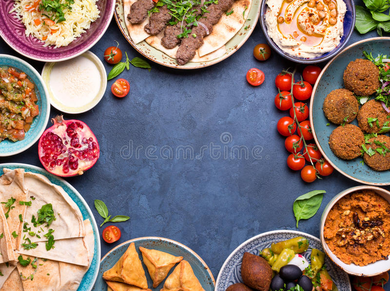 Арабская предпосылка блюд стоковые изображения rf
