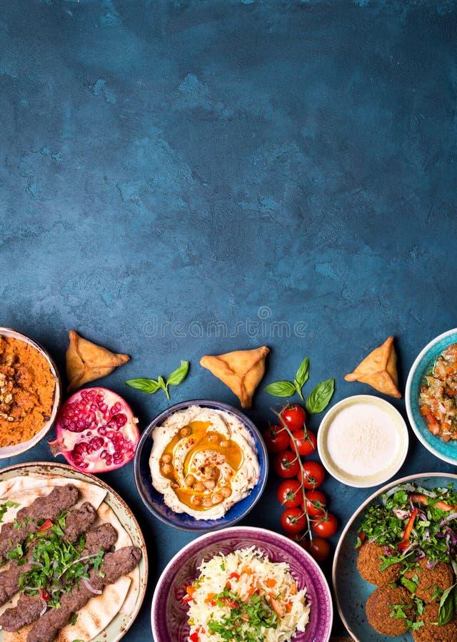 Арабская предпосылка блюд стоковое изображение rf