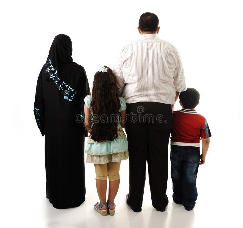 Арабская семья, 4 члена стоковое фото rf