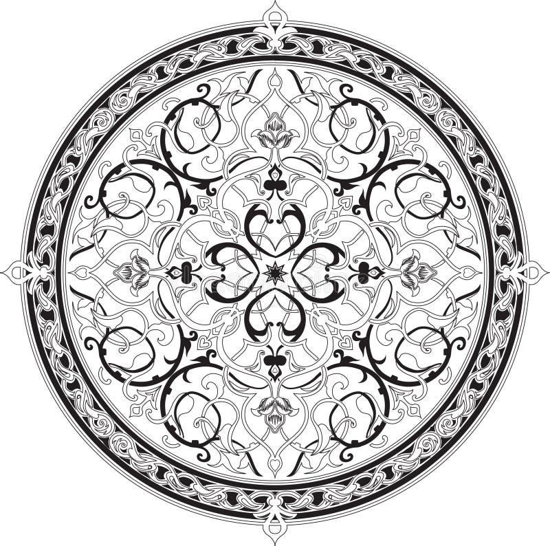 арабская флористическая картина мотива иллюстрация вектора