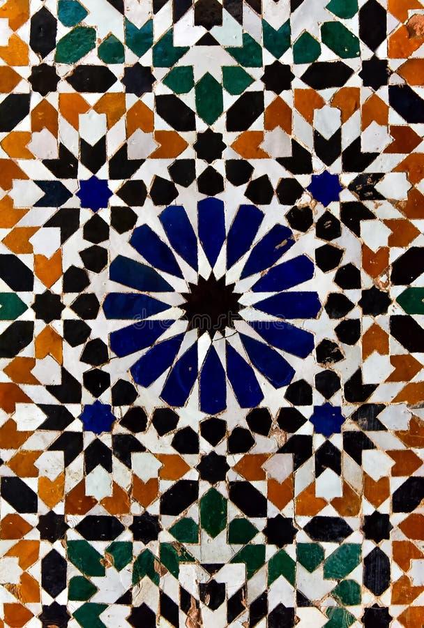 Арабская флористическая мраморная текстура плитки мозаики стоковая фотография rf