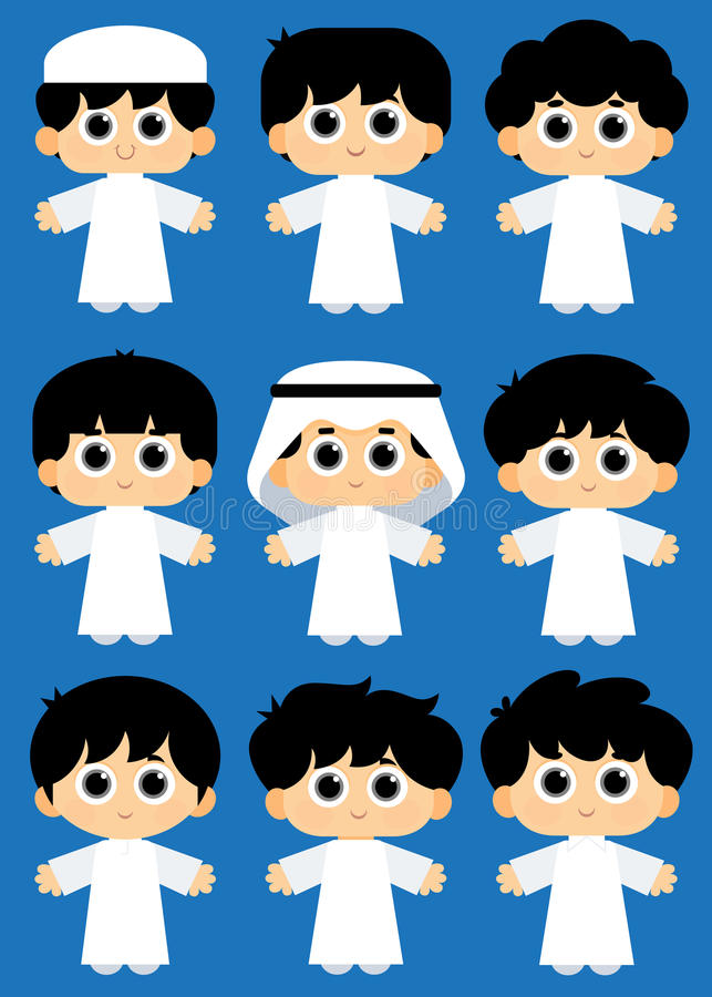 Арабские дети иллюстрация штока