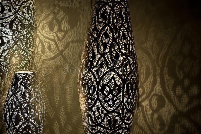 Арабские света с тенями иллюстрация штока