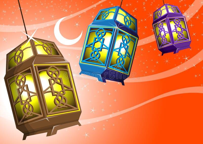 арабские светильники иллюстрация штока