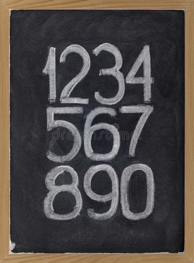 арабские цифры классн классного стоковое изображение rf