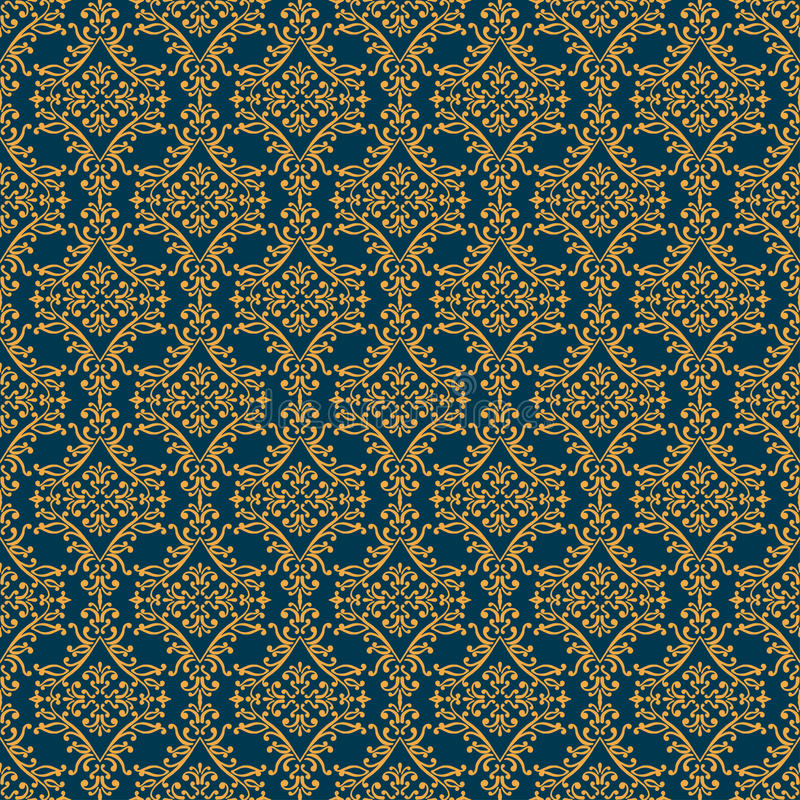 Арабский безшовный орнамент Абстрактный вектор иллюстрация вектора