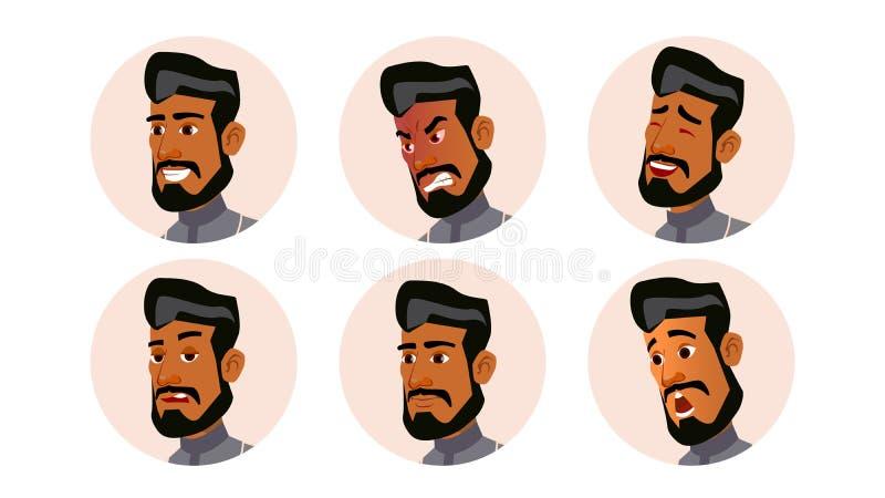 Арабский вектор людей воплощения человека Ghutra исламско Указатель места заполнения значка Персона Shilouette взволнованности ра бесплатная иллюстрация