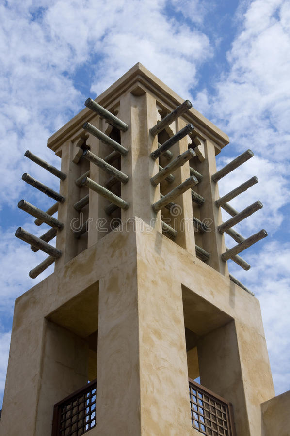 арабский ветер башни стоковые изображения rf