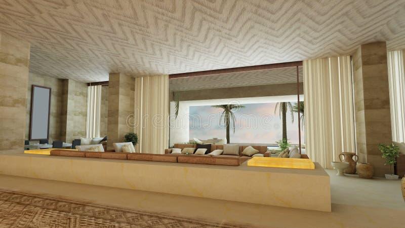 арабский живущий роскошный тип комнаты бесплатная иллюстрация
