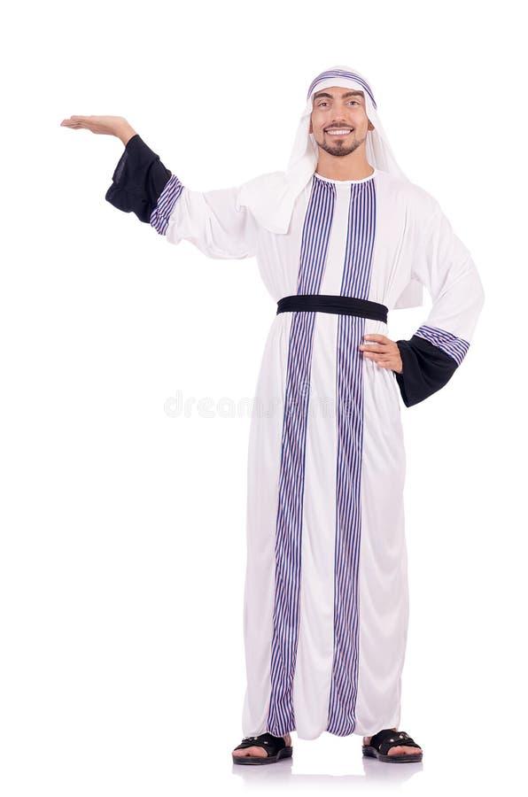 Арабский изолированный человек стоковое изображение