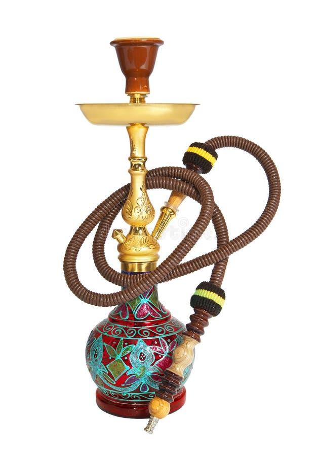 Арабский кальян изолированный на белизне стоковые фотографии rf